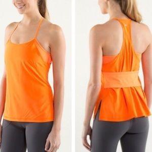 LULULEMON Amped Neon Orange Workout Tank Top
